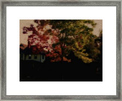 Falling Into Fall From The Past Framed Print by Martin Morehead