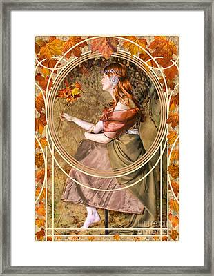 Falling Leaves Framed Print by John Edwards