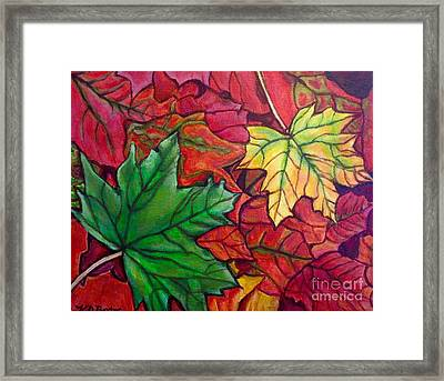 Falling Leaves I Painting Framed Print