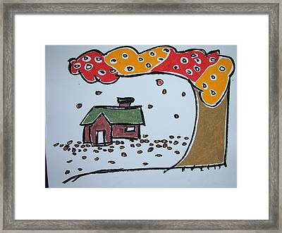 Falling Leaves Framed Print by Pat  Lackenbauer
