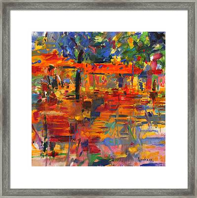 Falling Leaves Framed Print by Peter Graham