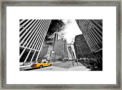 Falling Lines - Rockefeller Center Framed Print by Thomas Splietker