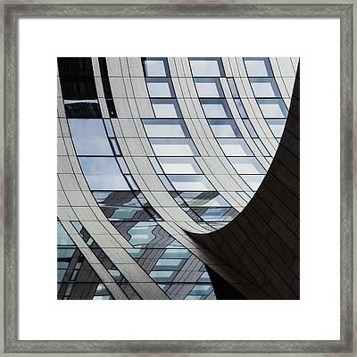 Falling Lines Framed Print by Gerard Jonkman