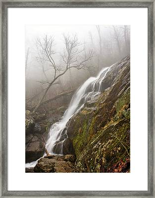 Framed Print featuring the photograph Falling Mist by Alan Raasch
