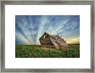 Falling Rays Framed Print