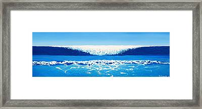 Falling Sea Framed Print
