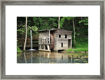 Falling Spring Mill 3 Framed Print by Marty Koch