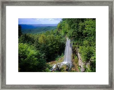 Falling Spring Waterfall Framed Print by Karen Wiles