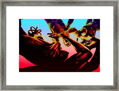 Falling To Hell Framed Print
