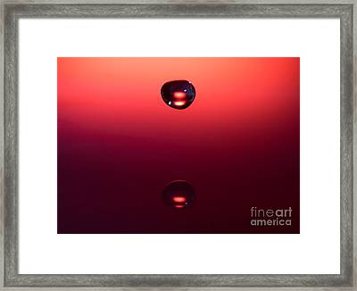 Falling Towards Myself Framed Print