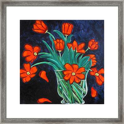 Falling Tulip Petals  Framed Print