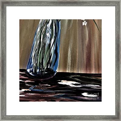 Falling Vase Framed Print