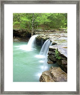 Falling Water Falls 5 Framed Print by Marty Koch