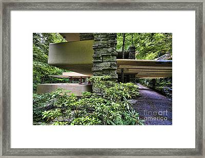 Falling Water Flw Framed Print by Chuck Kuhn