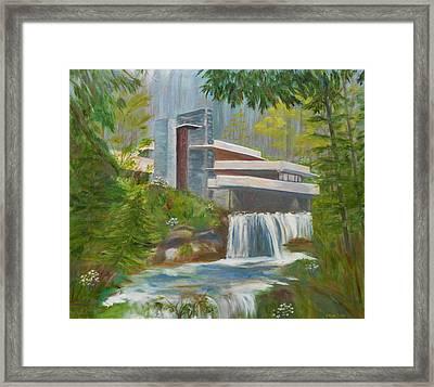 Falling Water Framed Print by Jamie Frier