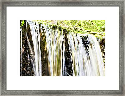 Falling Water Mirror Framed Print