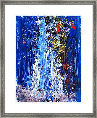 Falling Water Framed Print by Penfield Hondros