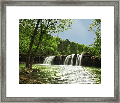 Falling Water Framed Print by Ron McGinnis
