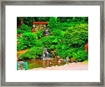 Falling Water Framed Print by Tim Coleman
