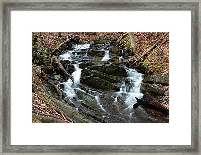 Falling Waters In February Framed Print by Jeff Severson