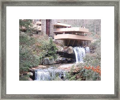 Falling Waters In November Framed Print