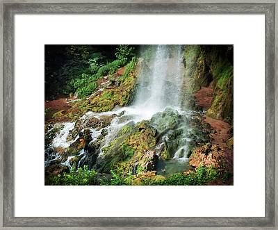 Falling Waters Framed Print by Karen Wiles