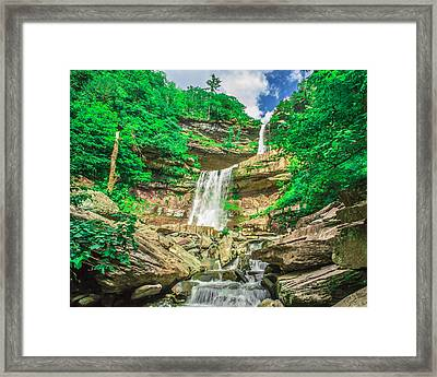 Framed Print featuring the photograph Falling Waters by Paula Porterfield-Izzo