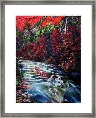 Falling Waters Framed Print