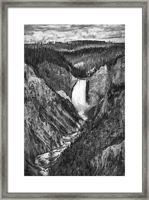 Falling Yellowstone IIi Framed Print