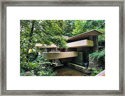 Fallingwater Frank Lloyd Wright Architect Framed Print