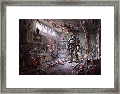Fallout 4 Armour Framed Print by Movie Poster Prints