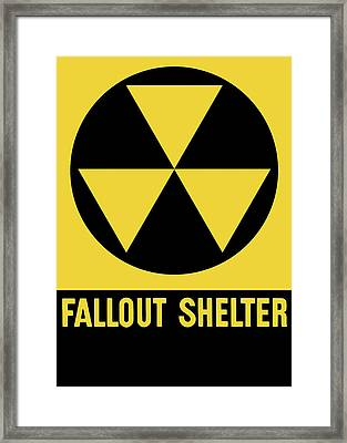 Fallout Shelter Sign Framed Print