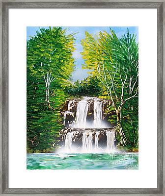 Falls 01 Framed Print by Greg Moores