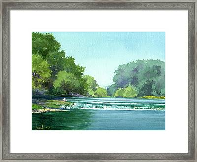Falls At Estabrook Park Framed Print