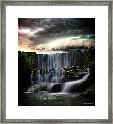 Falls At Mirror Lake Framed Print