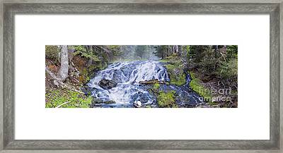 Falls At Todd Lake Framed Print by Twenty Two North Photography