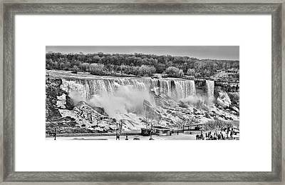 Framed Print featuring the photograph Falls Black And White by Traci Cottingham