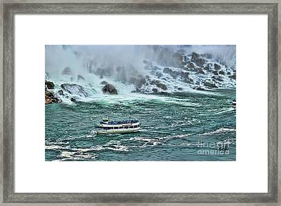 Framed Print featuring the photograph Falls Boat by Traci Cottingham