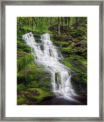 Falls Brook Framed Print by Bill Wakeley