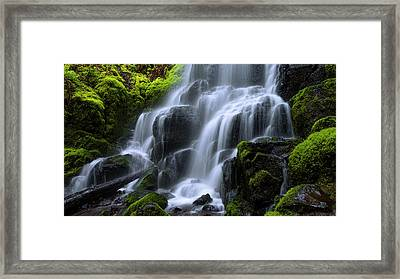 Falls Framed Print by Chad Dutson