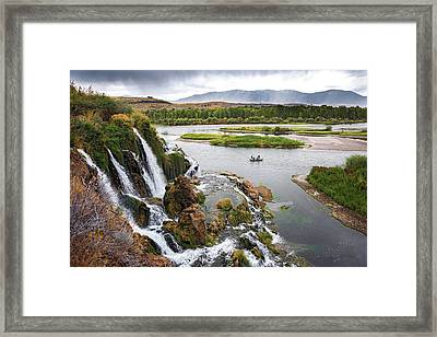 Falls Creak Falls And Snake River Framed Print