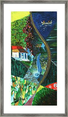 Falls, Fingers And Gorges Framed Print
