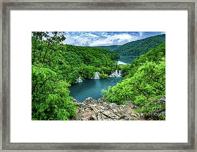 Falls From Above - Plitvice Lakes National Park, Croatia Framed Print