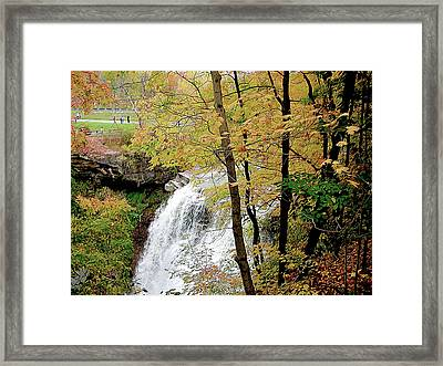 Falls In Autumn Framed Print