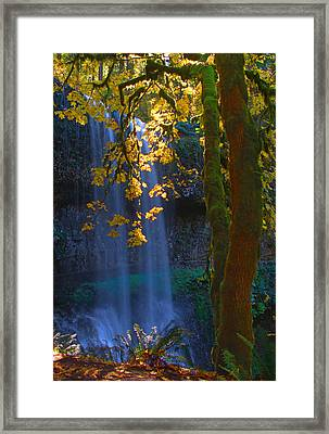 Falls In The Fall Framed Print by Dale Stillman