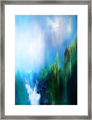 Falls Framed Print by Larry Ney  II