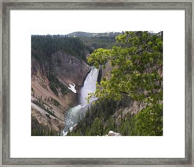 Falls Framed Print by Mel Crist