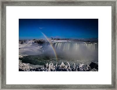 Falls Misty Rainbow  Framed Print