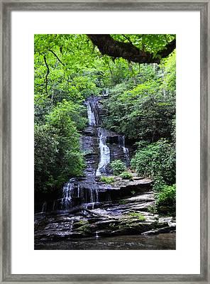 Falls Near Bryson City Framed Print