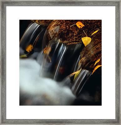 Falls Of Autumn Framed Print by Steven Milner
